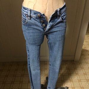 CHEAP MONDAY Jeans sz 25 Light Wash Skinny Leg